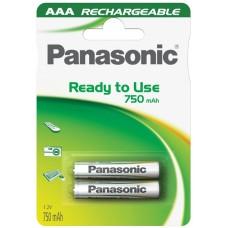 Επαναφορτιζόμενη Μπαταρία Panasonic Ready To Use AAA 1.2V 750mAh